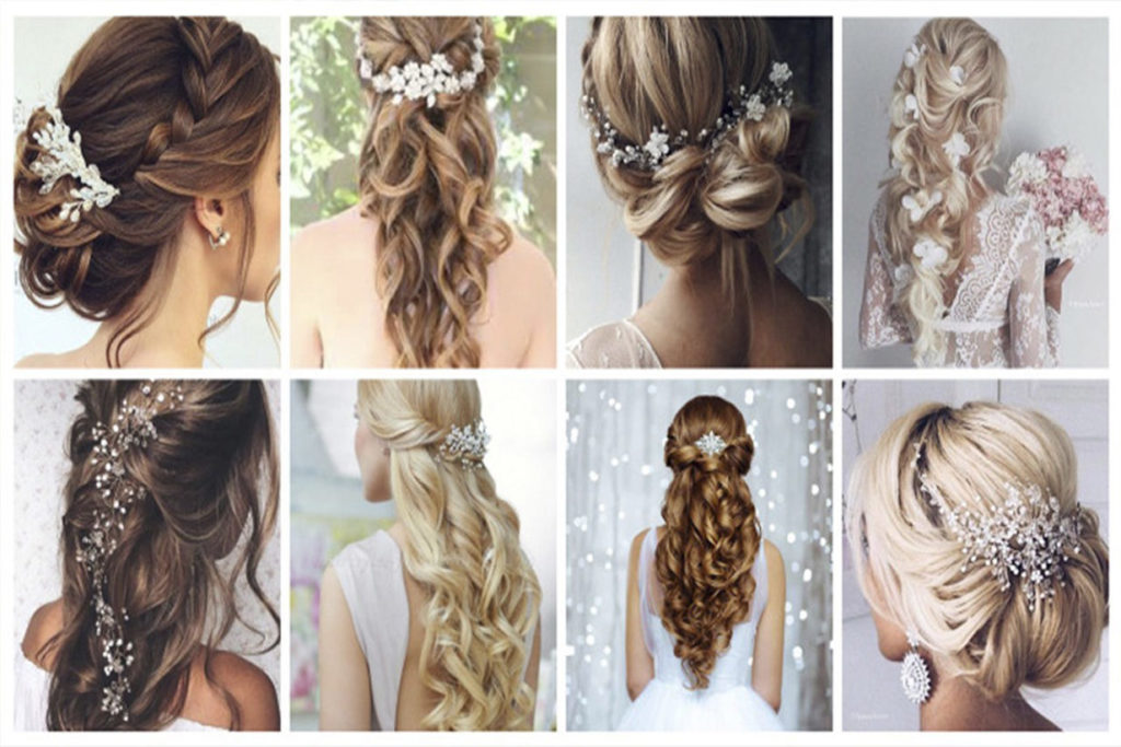 bridal hairstyle front