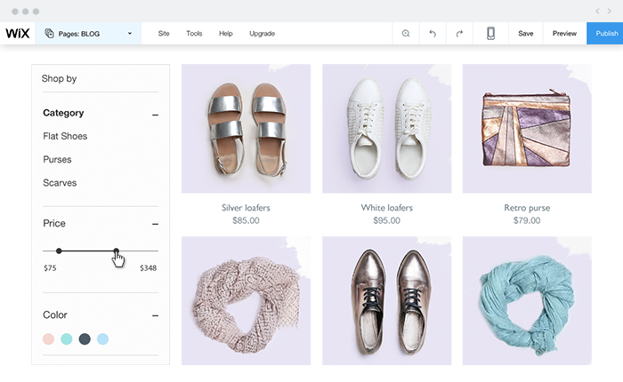product filter and search